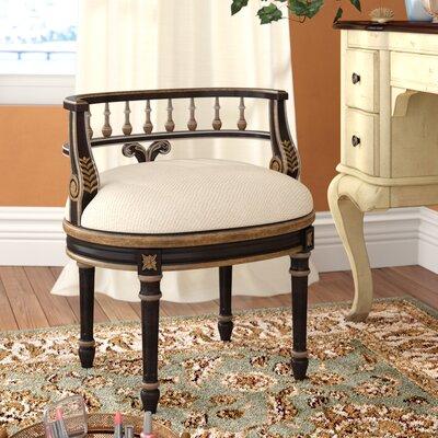 Kadine Vanity Stool Color: Black