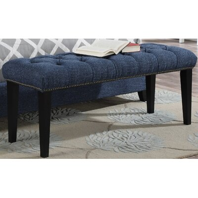 Mendez Upholstered Bench Upholstery: Blue