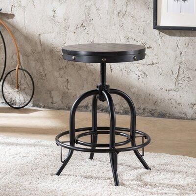 Alessia Adjustable Height Swivel Bar Stool Color: Black