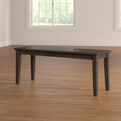 Alverson Wood Bench Color: Black