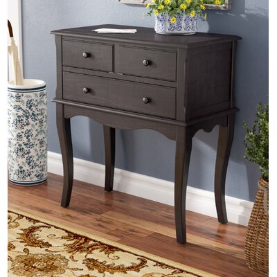 Trinway Console Table Color: Black
