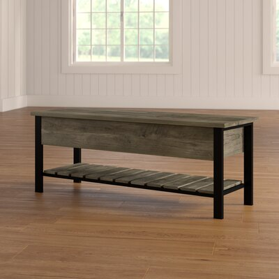 Savon Open-Top Wood Storage Bench Color: Gray Wash