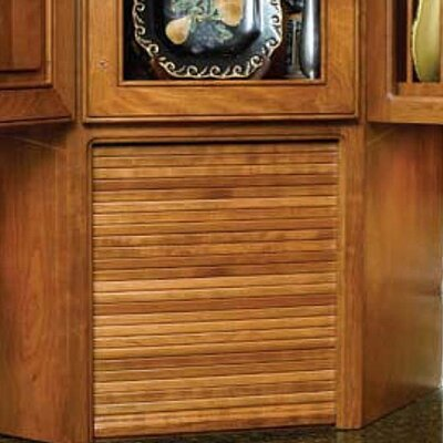 "Nina Tambour Frame Solid Wood Kitchenware Divider Finish: Maple, Size: 24"" H x 18"" W x 6"" D"