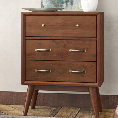 Ripton Mid-Century Modern 3 Drawer Accent Chest