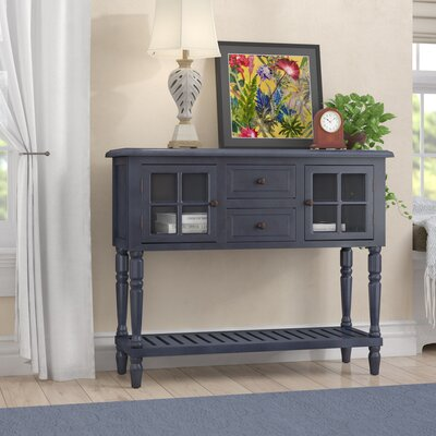 Decarlo Console Table Color: Antique Navy