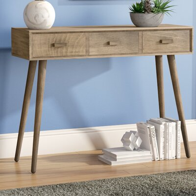 Beem 3 Drawer Console Table Color: Brown