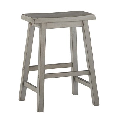 "Sharman 24"" Bar Stool Color: Antique Gray"