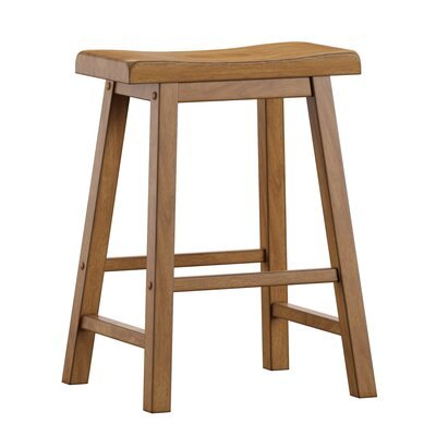 "Sharman 24"" Bar Stool Color: Oak"