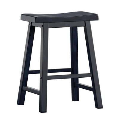 "Sharman 24"" Bar Stool Color: Antique Denim"