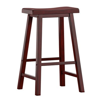 "Sharman 29"" Bar Stool Color: Antique Berry"