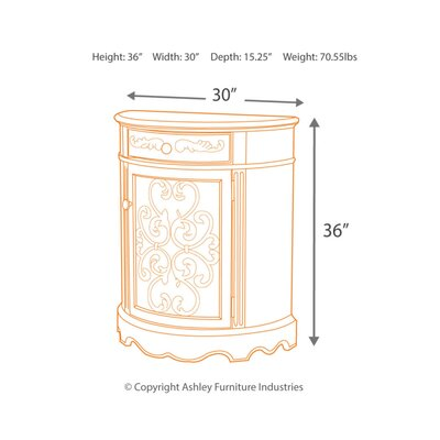 Drewry 1 Door Accent Cabinet