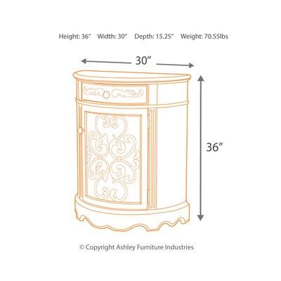 Drewry 1 Door Accent Cabinet