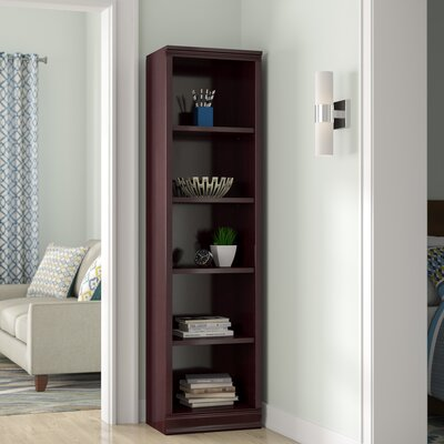 Morgan 5-Shelf Narrow Bookcase Color: Royal Cherry