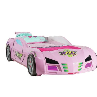 Alaia Twin Car Bed Color: Pink
