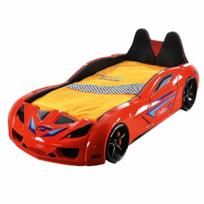 Honey Nitro Turbo Gt Twin Car Bed Color: Red