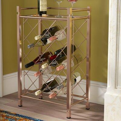Cotgrave 17 Bottle Floor Wine Bottle Rack Finish: Champagne