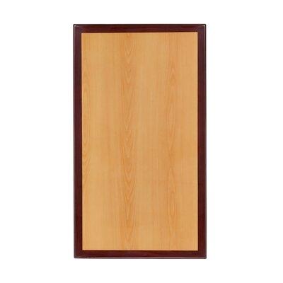"""Milton Rectangular Two-Tone Resin Table Top Size: 60"""" H x 30"""" W"""