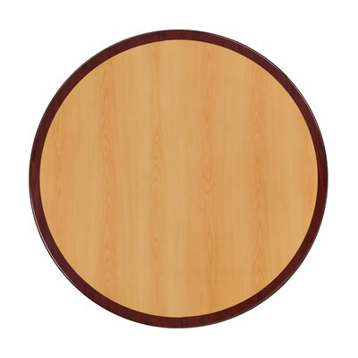 """Zion Round Two-Tone Resin Table Top Size: 48"""" L x 48"""" W"""