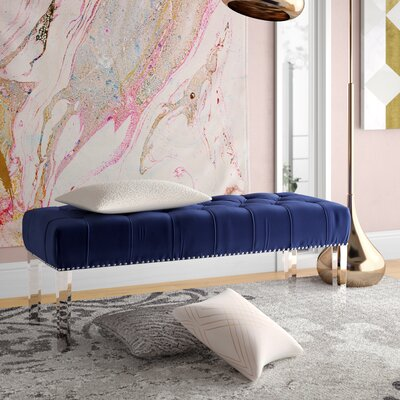 Sowers Upholstered Bench Upholstery Color: Navy
