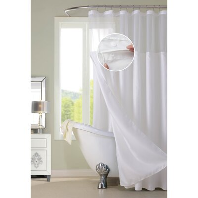 Susquehanna Water Repellent Shower Curtain Color: White