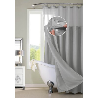 Susquehanna Water Repellent Shower Curtain Color: Gray