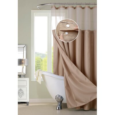 Susquehanna Water Repellent Shower Curtain Color: Brown