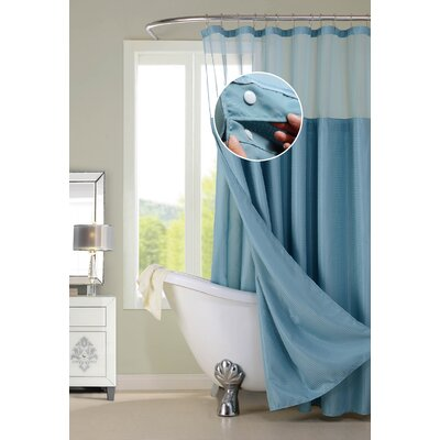 Susquehanna Water Repellent Shower Curtain Color: Blue