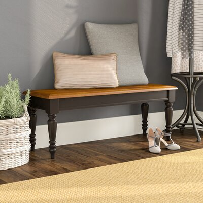 Harwood Wood Bench Color: Anchor Black with Suntan