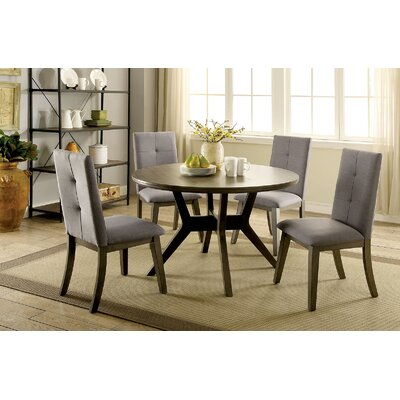 Yesenia 5 Piece Dining Set Chair Color: Gray, Table Color: Gray