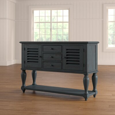 Nash Console Table Color: Blue