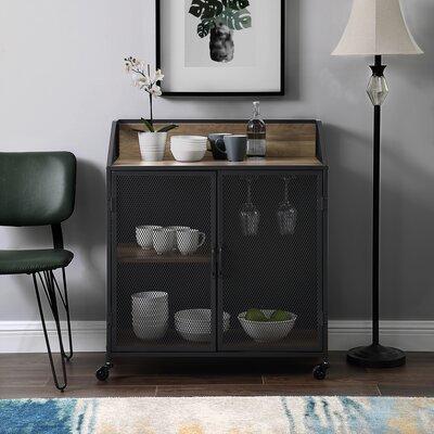 Bowles Bar Cabinet with Mesh Color: Rustic Oak