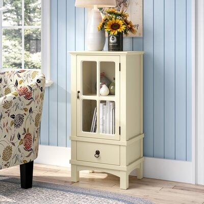 Litzy 1 Drawer Accent Cabinet Color: Antique White