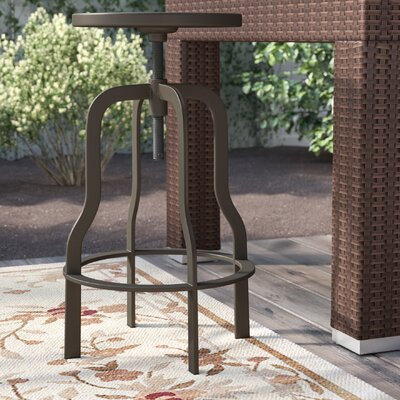 "Peony 37"" Swivel Bar Stool Frame Finish: Rustic Gun Metal"