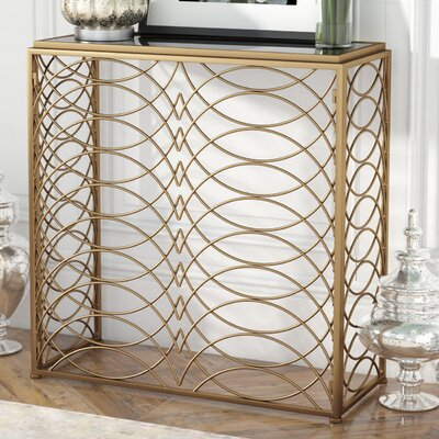 Bracknell Console Table Color: Gold