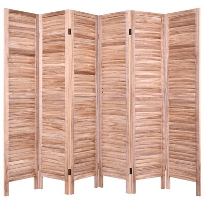 Goku 6 Panel Room Divider Color: Brown