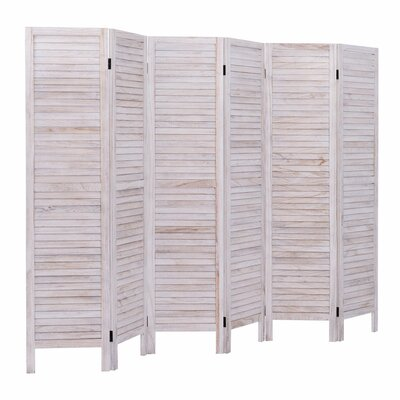 Goku 6 Panel Room Divider Color: White