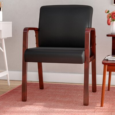 Barcia Series Leather Lounge Chair Frame Finish: Cherry