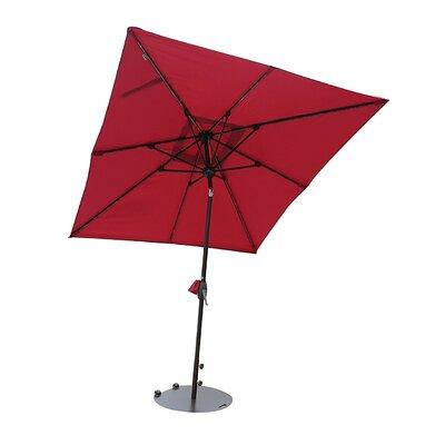Suri Patio 7' Rectangular Market Umbrella Fabric Color: Red