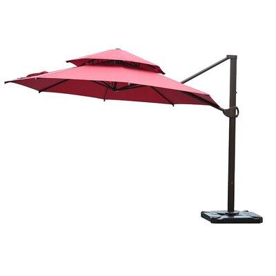 Azaiah Patio Offset Hanging 11.5' Cantilever Umbrella Fabric Color: Red