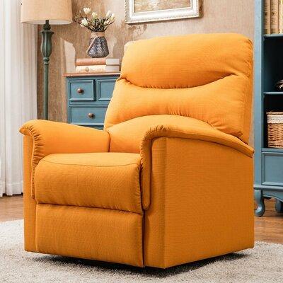 Schneeweis Power Lift Assist Recliner Upholstery: Orange