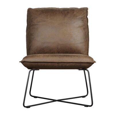 Ellington Side Chair Upholstery: Saddle Brown Faux