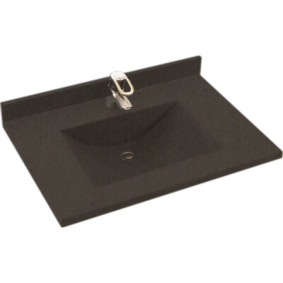 """Contour Solid Surface 25"""" Single Bathroom Vanity Top Top Finish: Canyon"""