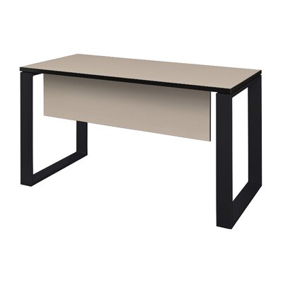 "Mireya Training Table with Modesty Panel Tabletop Finish: Beige, Base Finish: Black, Size: 29"" H x 42"" L x 24"" W"