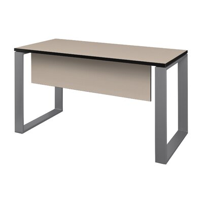 "Mireya Training Table with Modesty Panel Tabletop Finish: Beige, Base Finish: Gray, Size: 29"" H x 60"" L x 24"" W"