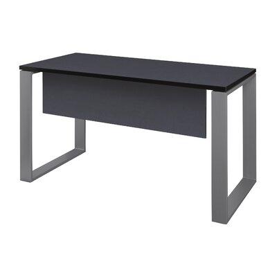 "Mireya Training Table with Modesty Panel Base Finish: Gray, Tabletop Finish: Gray, Size: 29"" H x 60"" L x 24"" W"
