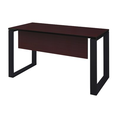 "Mireya Training Table with Modesty Panel Base Finish: Black, Tabletop Finish: Mahogany, Size: 29"" H x 42"" L x 24"" W"