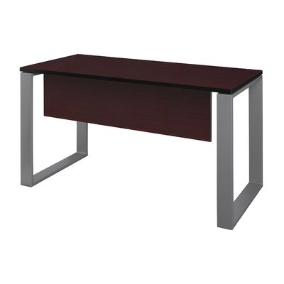 "Mireya Training Table with Modesty Panel Base Finish: Gray, Tabletop Finish: Mahogany, Size: 29"" H x 42"" L x 24"" W"