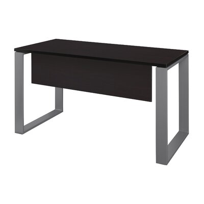 "Mireya Training Table with Modesty Panel Base Finish: Gray, Tabletop Finish: Mocha Walnut, Size: 29"" H x 60"" L x 24"" W"
