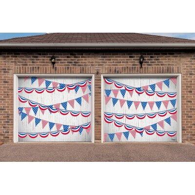 2 Piece Patriotic Garage Door Mural Set