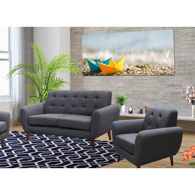 Deandre 2 Piece Living Room Set Color: Dark Gray